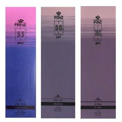 Prinz Gard stamp mounts strips 215mm long CLEAR backed per 10