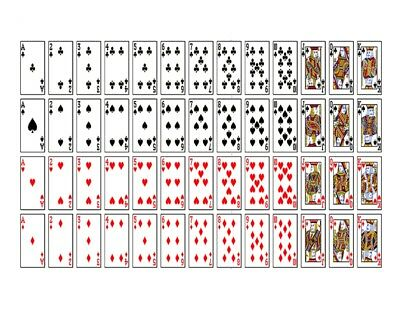 Pack of Playing Card full Deck Cards fronts /& box Edible Cake Topper Wafer Icing