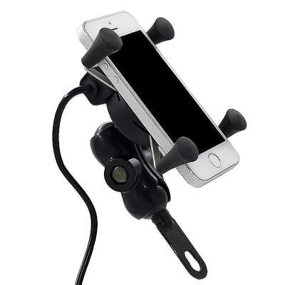 Novelty X-Grip Motorcycle Bike Car MTB Cell Phone GPS Mount Holder USB Charger