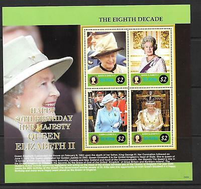ST.KITTS SG854a 2006 80th BIRTHDAY OF QUEEN ELIZABETH MNH