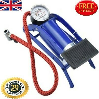 New Single Barrel Cylinder Air Inflator Foot Pump Car Van Bicycle Bike Tyres Car