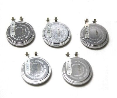 [Lot of 5] Panasonic BR2450A Lithium Coin Cell Battery 3V Tab Welded TPMS