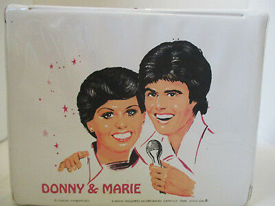 Vintage 1978 Donny and Marie Aladdin Vinyl Lunch Box with Thermos