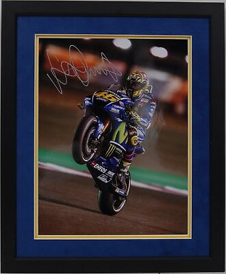 Valentino Rossi Hand Signed Yamaha Motogp Framed Photo Display Proof.