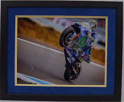 Valentino Rossi Hand Signed Yamaha Motogp Framed Photo Display Proof 1.