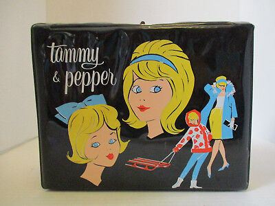Vintage 1962 Ideal Tammy & Pepper Vinyl Lunch Box