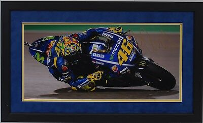 Valentino Rossi Hand Signed Yamaha Motogp Framed Photo Display Proof 15.