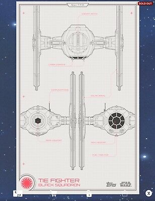 TIE FIGHTER FA Red Schematic Star Wars Card Trader - £0.99 | PicClick on tie phantom, y-wing schematic, tie advanced,