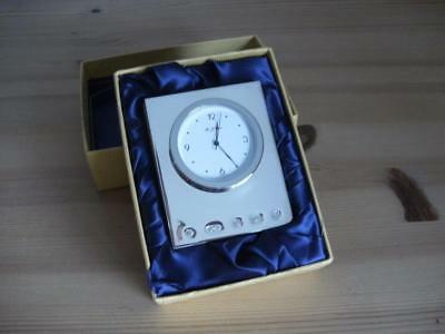 HALLMARKED SILVER DESK CLOCK Carrs Of Sheffield 2000