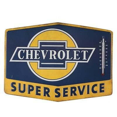 Chevrolet Embossed Metal Thermometer