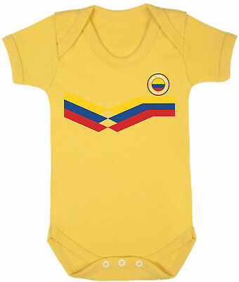 COLOMBIA World Cup 2018 BABYGROW FOOTBALL New Style Retro
