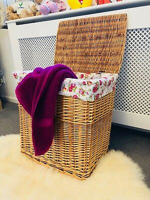 New Very Large High Quality Laundry Basket French Chic Storage With Lining
