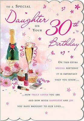 Stunning Modern Design And Beautifully Worded Daughter 30th Birthday Card