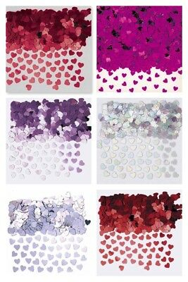 PINK RED GOLD SILVER  Sparkle Heart Wedding Confetti Table SCATTER Decoration