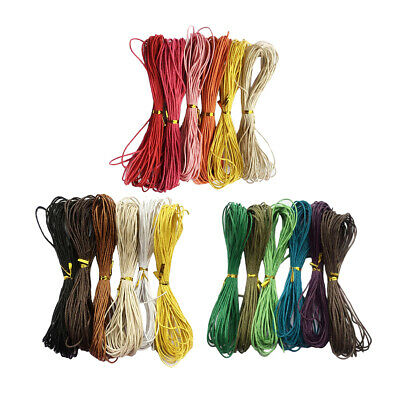 6pcs 10 Meters Waxed Cotton Cord String Jewelry Making Findings 1.5mm Wide