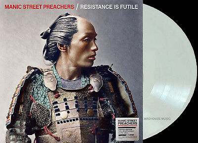 MANIC STREET PREACHERS LP + CD Resistance Is Futile WHITE Vinyl Limited Edn. IN