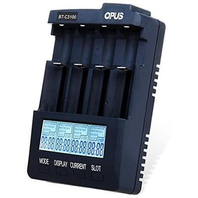 Opus Bt C3100 V2.2 Digital Intelligent 4 Slots Lcd Battery Charger Quick New