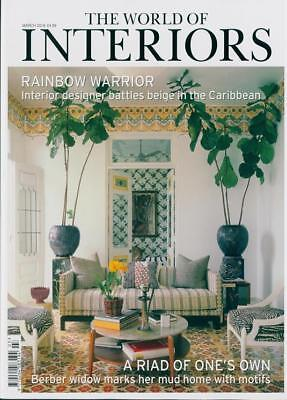 The World Of Interiors Magazine Issue March 2018  ~ New ~