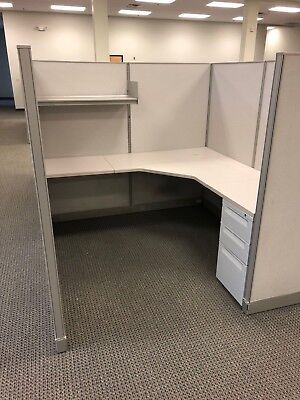 """6ft x 6ft x 64""""H CUBICLE/PARTITION SYSTEM by HAWORTH OFFICE FURNITURE"""