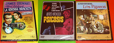 PSICOSIS + LA VENTANA INDISCRETA + LOS PAJAROS Psycho + Rear window + The Birds