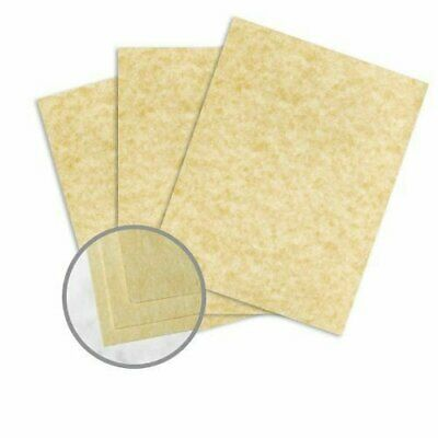 Astroparche Ancient Gold Paper - 8 1/2 x 11 in 60 lb Text Vellum 30% Recycled 50