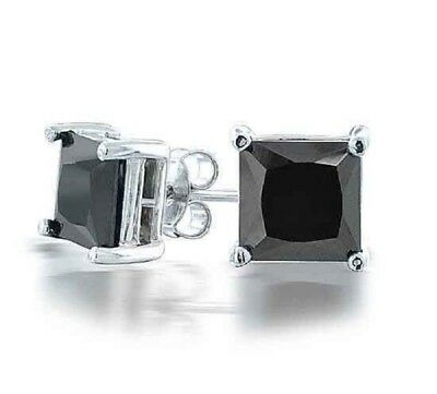 Fashion 9K gold filled square zircon unisex stud earring ! Gift Jewelry & Love