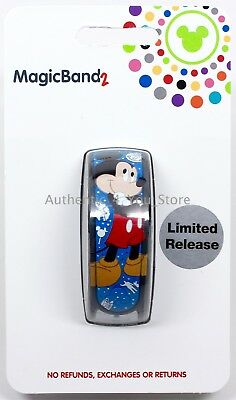 NEW Disney Parks 2018 Mickey Magic Band 2 Limited Release Blue MagicBand 2.0