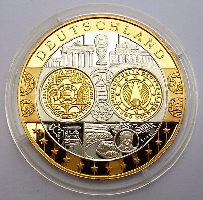 Germany 200 Euro 2002 Silver Coin Proof 999 with 24K Gold Plated Coin / Medal !
