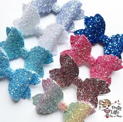 Sparkling Glitter Girl Hair Bow Clip Headband Bobble Girls Baby 3 1/2""