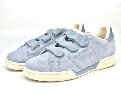 fb91316dc95 Mens Reebok Classics NPC Straps Grey Blue Sneakers Adjustable Straps NEW
