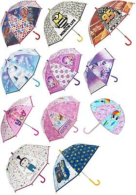 Kids Girls,Boys Bubble Umbrella Dome Blaze,Cars,Frozen,Princess POE Brolly 3+Y