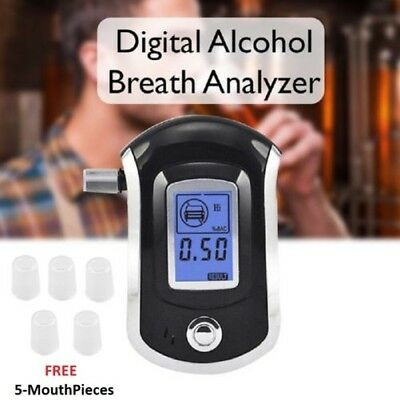Portable Digital Atem Alkohol Probe Analysator LCD Breathalyser Test Finder