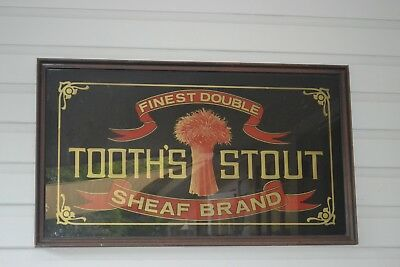 Very rare original tooths sheaf stout pub art by rousell in exellent cond mirror