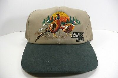 Baldwin Filters Embroidered Hunting Cap Hat Adjustable Pheasants Baseball Style