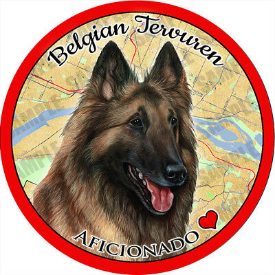 Belgian Tervuren Dog Absorbent Porcelain Dog Breed Car Coaster
