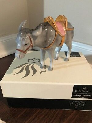 Nativity Donkey Royal Doulton Holiday Traditions Nativity Poreclain Figurine