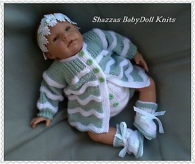 Baby/Reborn Doll Outfit, 0/3 months,19/22 Inch Reborn Doll, Handknitted