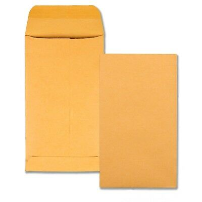 Quality Park Coin/Small Parts Envelopes, #5.5, Brown Kraft, 3.125 x 5.5-Inches,