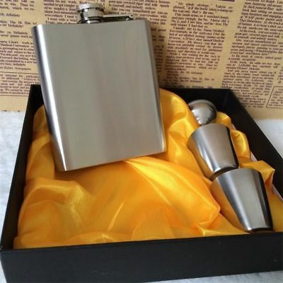 7oz Stainless Steel Pocket Drink Whisky Flasks Alcohol Engraved Gift Steel