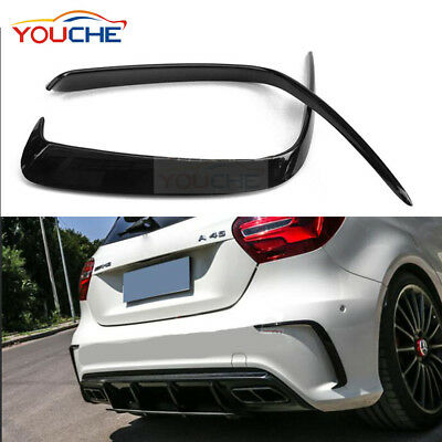 Rear ABS Bumper Splitter Canard For Mercedes Benz W176 A200 A250 A45 AMG 13-16