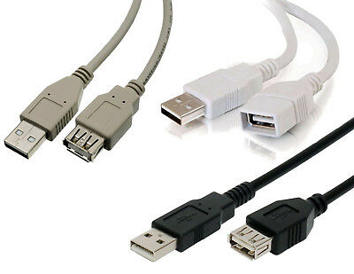 CABLE ALARGADOR USB (A macho - A hembra) - 0,75 1 1,50 1,80 2 3 5 m - EXTENSION