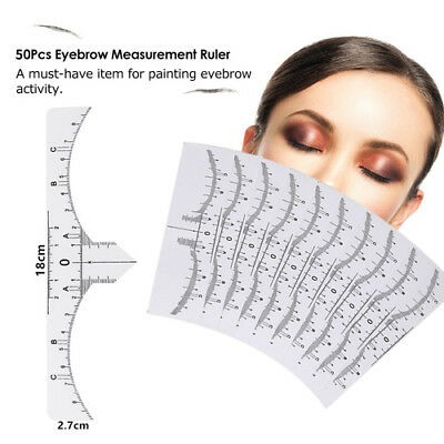 Disposable Eyebrow Ruler Stickers Stencil Microblading Tattoo Makeup Measure NEW