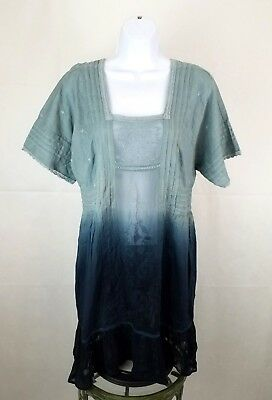 c601f777fa16 Holding Horses Anthropologie Dress Tunic Size XS Ocean Dipped Ombre  Embroidered