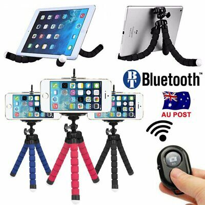 Mini Octopus Tripod Bracket Flexible Holder Mount + Remote For iPhone Camera AU
