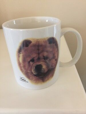 Chow Chow dog Coffee Mug- porcelain by Rosalinde- hand decorated in USA