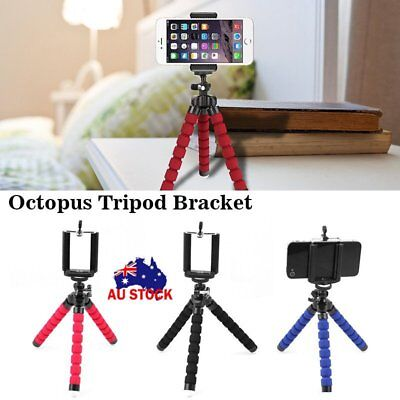 Camera Smart Phone Holder Flexible Octopus Tripod Bracket Stand Mount Monopod AU