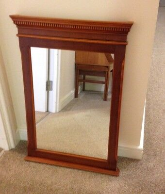 Wall Mirror Solid Yew Wood