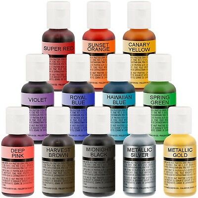 Chefmaster Airbrush Colour 18g/19g - range of colours