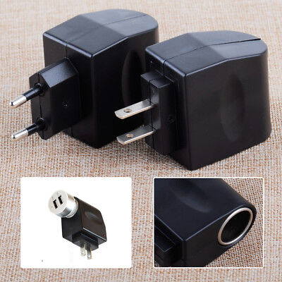 AC 110-220V Wall Power to DC 12V Car Charger Cigarette Lighter Converter Adapter