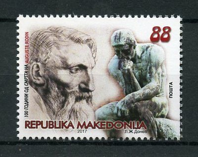 Macedonia 2017 MNH Auguste Rodin French Sculptor 1v Set Sculpture Art Stamps